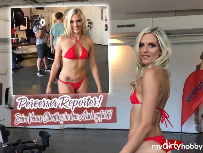 Video Thumbnail Perverser Reporter! Beim Venus-Shooting in den Arsch gefickt