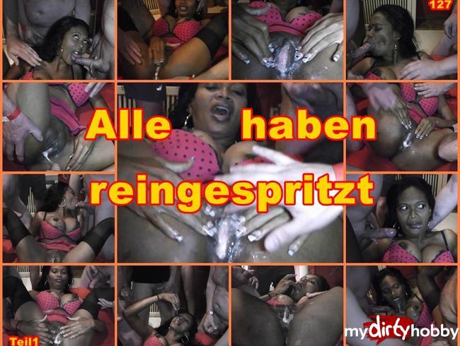 Video Thumbnail Heißer Partyspaß mit spermageilen Schokobebe. Teil 1