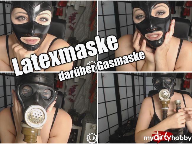 Video Thumbnail Latexmaske - darüber Gasmaske