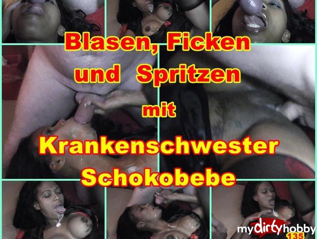 Video Thumbnail Blasen, Ficken und spritzen mit geiler Krankenschwester Schokobebe.