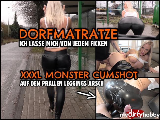 Lara-CumKitten - Leggings DORFMATRATZE | XXXL Cumshot auf den prallen Schlampen Arsch