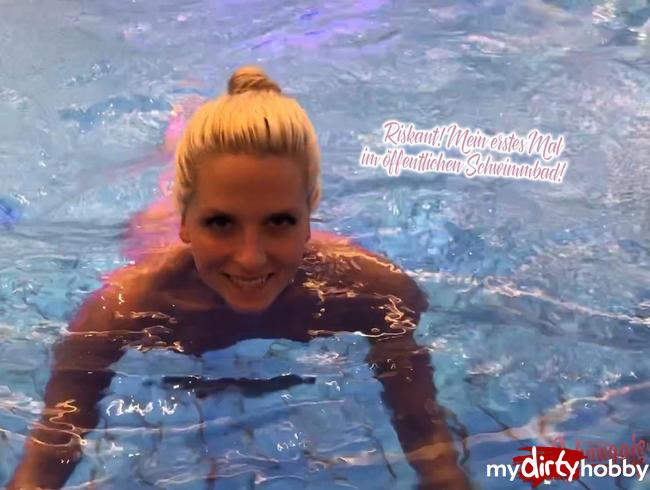 Video Thumbnail Riskant! Mein erstes Mal im öffentlichen Schwimmbad!