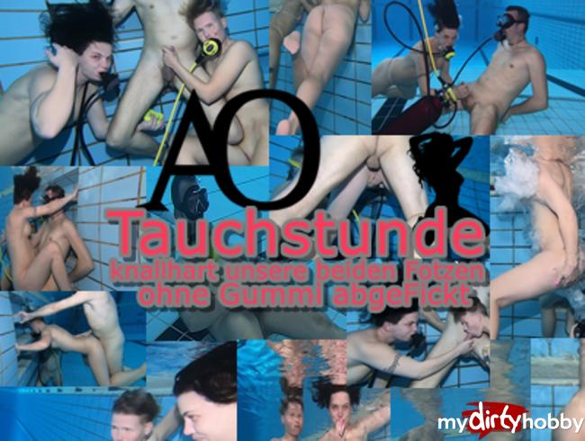 Video Thumbnail AO Tauchstunde - knallhart unsere beiden Fotzen ohne Gummi abgefickt