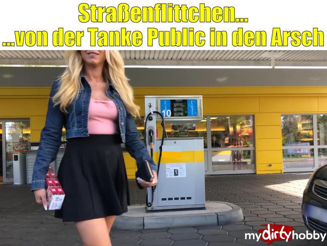 Daynia - Straßenflittchen | Von der Tanke PUBLIC in den Arsch! MEGA XXL Spermafresse!