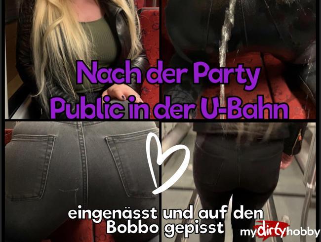 Video Thumbnail Nach der Party Public in der U-Bahn eingenässt und auf den Bobbo gepisst