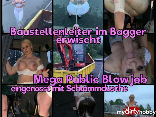 Video Thumbnail Baustellenleiter im Bagger erwischt - Mega Public Deepthroat piss und Einnässung mit Schlammdusche :