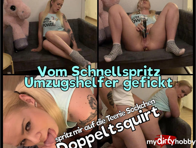 Video Thumbnail Vom Schnellspritz Umzugshelfer gefickt - spritz mir auf die Teenie Söckchen - Doppelsquirt