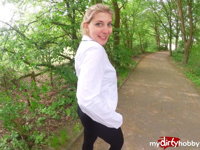 Video Thumbnail Mein krasses 1. MAL! Mit VOLLGESPRITZTER SPORTLEGGINGS zum JOGGEN (Sperma-Walk)