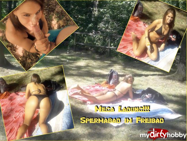Video Thumbnail Mega Ladung!!!  Spermabad im Freibad