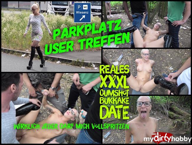 Lara-CumKitten - Reales Parkplatz USER DATE | XXXL Abspritz Massaker