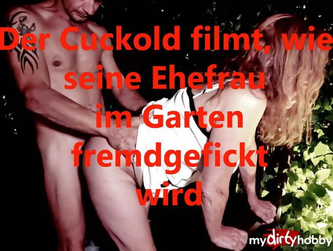 Video Thumbnail Cuckold darf filmen, wie seine Ehefrau im Garten fremdgefickt wird