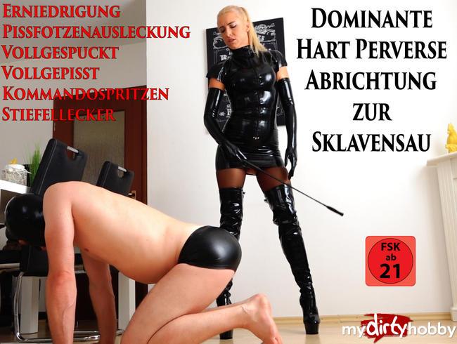 Daynia - Dominante hart perverse Abrichtung zur Sklavensau | Das Devote Wichser Vollprogramm!