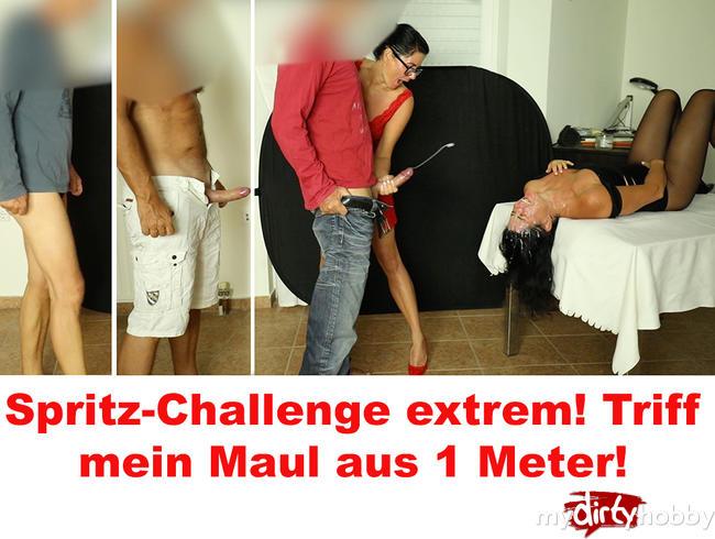 Alexandra-Wett - Spritz-Challenge extrem! Maultreffer aus 1 Meter!