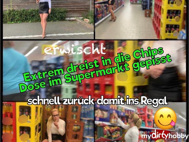 devil-sophie - Mega Extrem dreist Public in die Chips Dose im Supermarkt gepisst - schnell zurück damit ins Regal