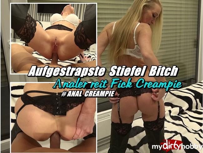 Video Thumbnail Aufgestrapste Stiefel Bitch - Analer reit Fick Creampie