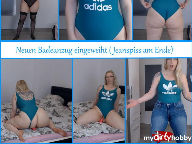 Video Thumbnail Neuen Badeanzug eingeweiht ( Jeanspiss am Ende)