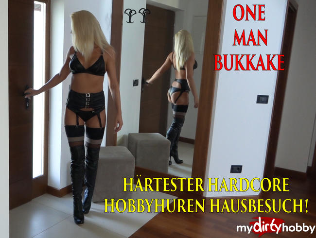 Video Thumbnail Härtester Hardcore Hobbyhuren Hausbesuch!!! Gebuchte Straps-Stiefel-Schlampe bekommt OneManBukkake!