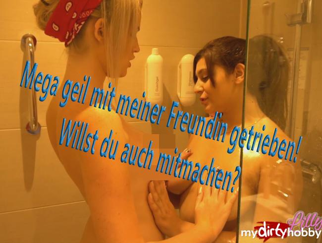 Video Thumbnail Spritztest! Mit meiner besten Freundin geil unter der Dusche rumgemacht!