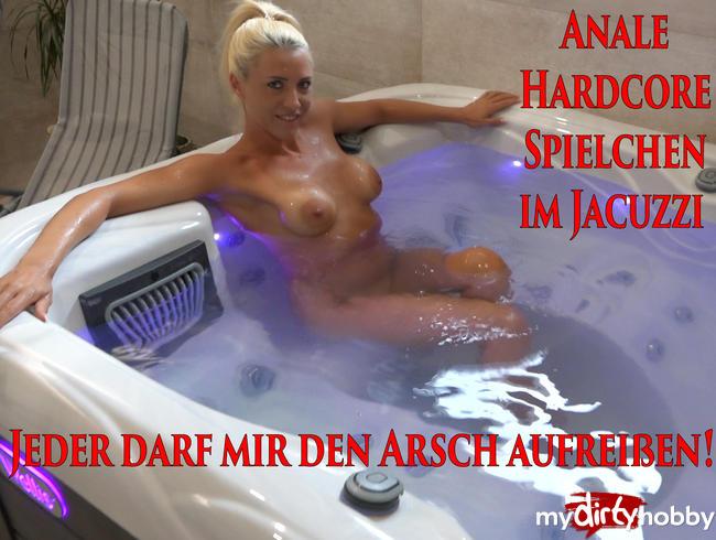 Daynia - Anale Hardcore Spielchen im Jacuzzi | Ich laß mir von Jedem den Arsch aufreißen!