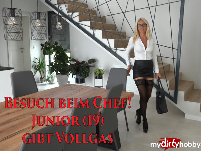 Video Thumbnail Besuch beim Chef | Junior (19) gibt VOLLGAS! XXXL Spermafresse!