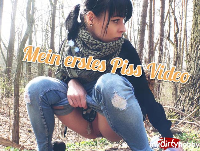 Video Thumbnail Mein erstes Piss Video !!! und fast in die Jeans gepisst. Outdoor im  HerbstWald