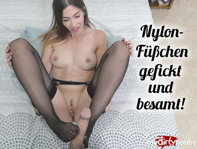 Video Thumbnail Meine geilen Nylon-Füßchen wollen GEFICKT und BESAMT werden!