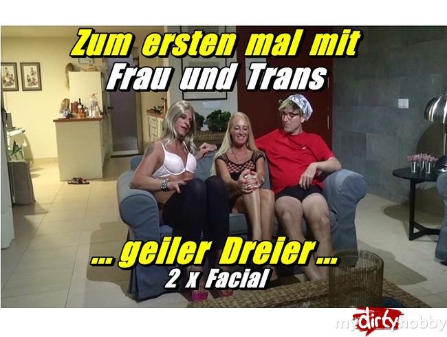 Video Thumbnail Zum ersten mal mit Frau und Trans - geiler Dreier