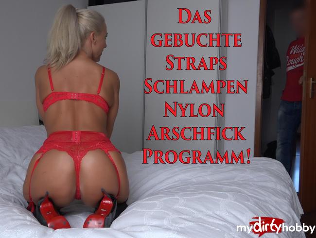 Daynia - Das gebuchte Straps-Schlampen-Nylon Arschfick-Programm!
