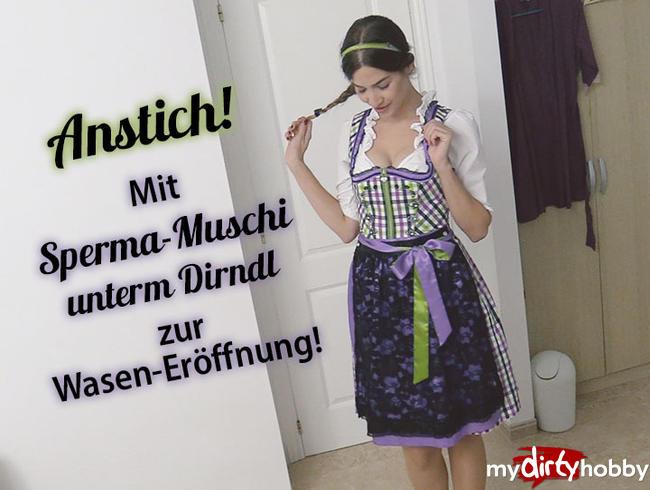 Video Thumbnail Anstich! Mit frisch gefickter Sperma-Muschi unterm Dirndl zur Wasen-Erföffnung!