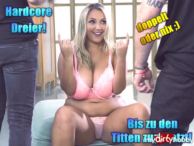 Video Thumbnail Hardcore Dreier! Bis zu den Titten zugerotzt!