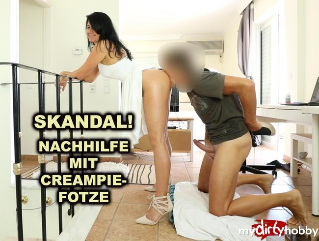 Video Thumbnail Skandal! Mit Creampie-Fotze zum Nachhilfeunterricht