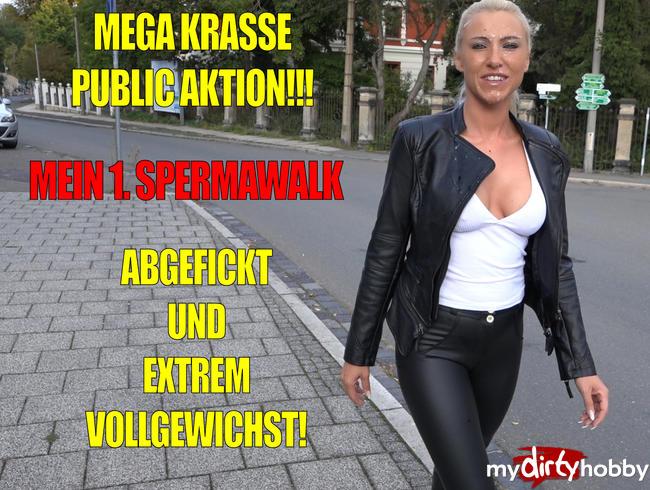 Daynia - Megakrasse Public Fick Aktion | Mein 1. Spermawalk mit XXXL Spermafresse!