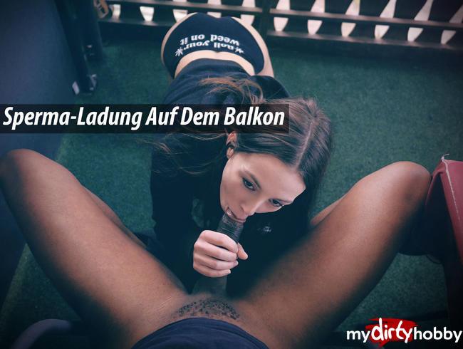 Video Thumbnail Sperma-Ladung Auf Dem Balkon