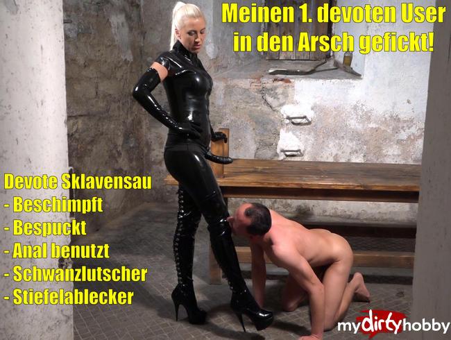 Daynia - Meinen 1. devoten User als anale Sklavensau benutzt und in den Arsch gefickt!