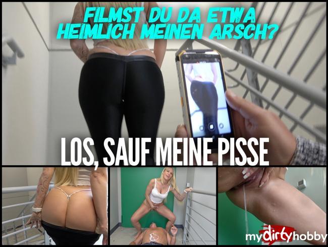 Video Thumbnail Filmst du etwa heimlich meine Arsch?? | Los sauf meine PISSE