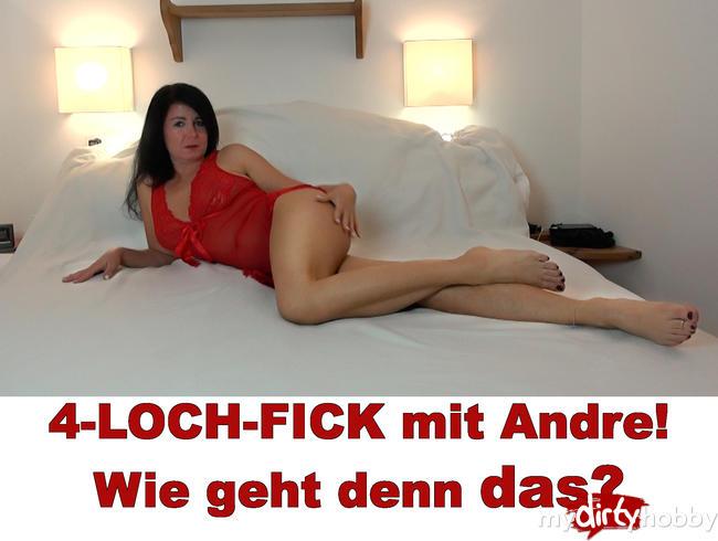 Alexandra-Wett - 4-LOCH-FICK mit Andre! Wie geht denn das?