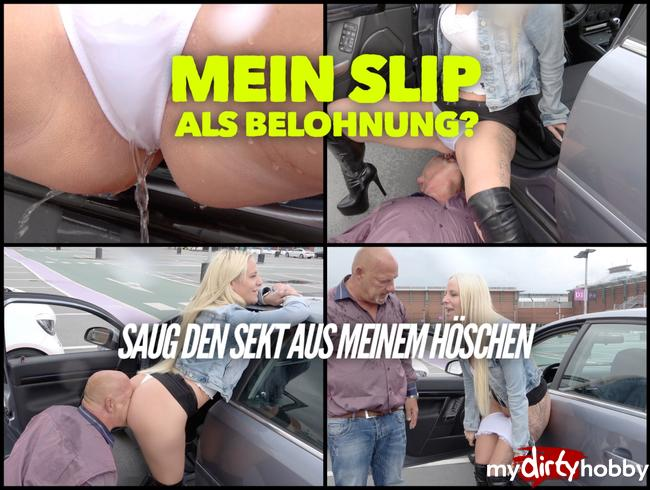 Video Thumbnail Saug den Sekt aus meinem Höschen | Vollgepisster Slip als Belohung