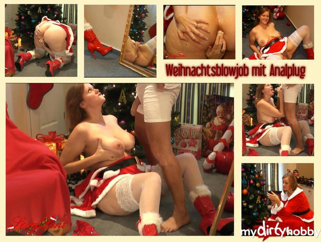Video Thumbnail Weihnachtsblowjob mit Analplug