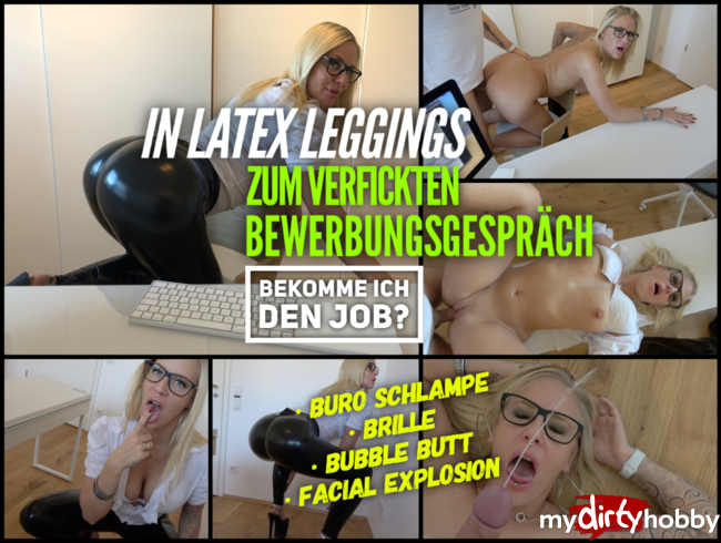 Video Thumbnail Büro Schlampe in LATEX LEGGINGS gefickt | Facial Spritz-Explosion für die Bubble Butt Bitch