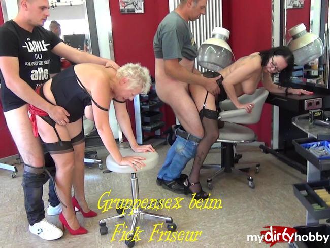 Video Thumbnail Gruppensex beim FICK Friseursalon