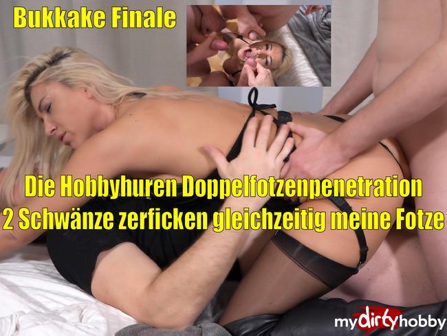 Video Thumbnail Hardcore Hobbyhuren DOPPELFOTZENSPRENGUNG | 2 Schwänze gleichzeitig in der Fotze mit Bukkake Finale