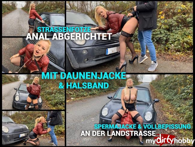 Video Thumbnail Straßenfotze ANAL Abgerichtet mit Daunenjacke und Halsband - Spermajacke und vollbepissung!!!