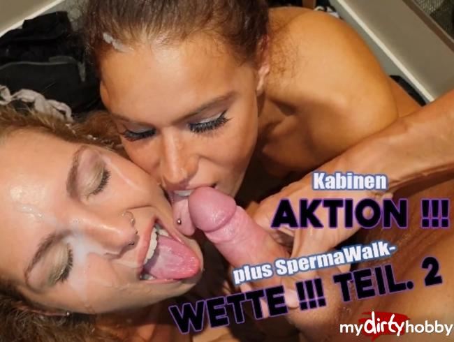 ChristyLey - Kabinen AKTION!!! plus SpermaWalk-WETTE!!! Teil.2