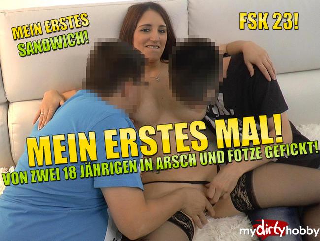 Video Thumbnail Mein Erstes Mal! Von zwei 18 Jährigen in Arsch und Fotze Gefickt!