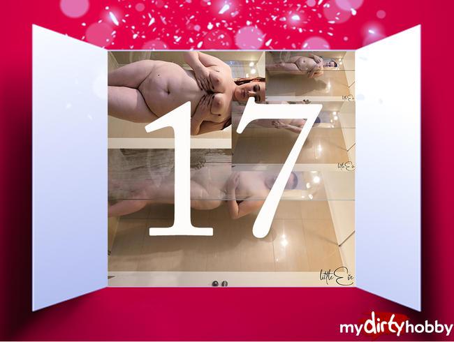 Video Thumbnail Türchen 17 - Geiles Duschen im Hotelzimmer, komplett nackt
