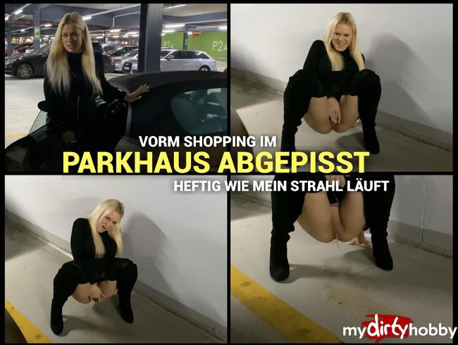 Video Thumbnail Vorm Shopping im Parkhaus abgepisst - heftig wie mein Strahl läuft