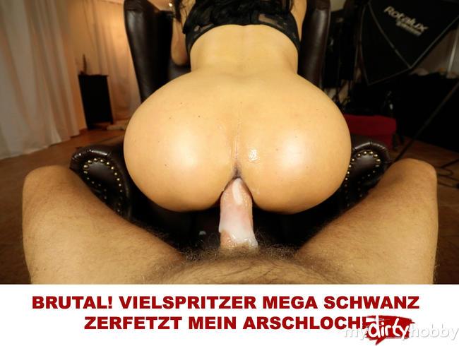 Video Thumbnail BRUTAL! VIELSPRITZER MEGA SCHWANZ ZERFETZT MEIN ARSCHLOCH!