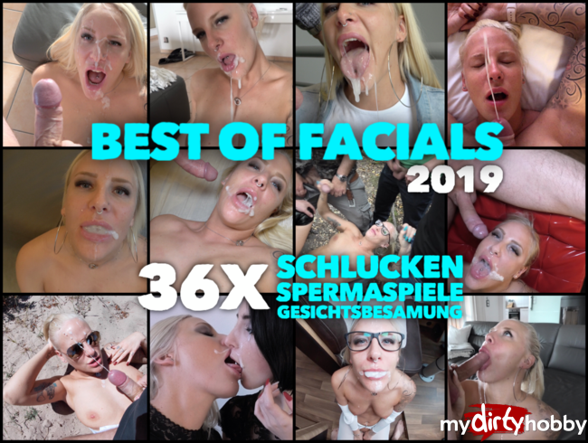 Video Thumbnail BEST OF FACIALS 2019 | 36 x Facial, Schlucken, Spermaspiele