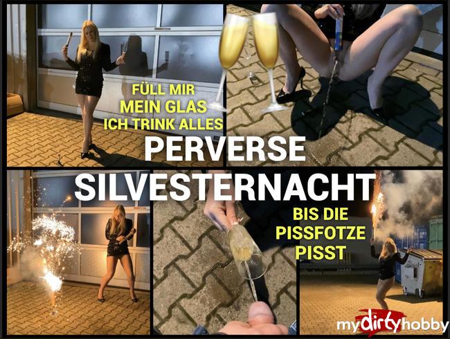 Video Thumbnail Perverse Silvesternacht - Füll mir mein Glas ich trink alles - bis die Pissfotze pisst :P