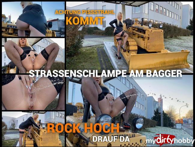 Video Thumbnail Straßenschlampe am Bagger - Rock hoch - rauf da - Achtung Pissstrahl kommt